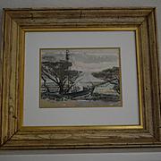 Golden Gate Park San Francisco sailing ship watercolor by W. R. Cameron