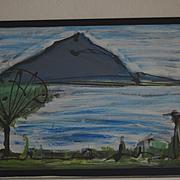 Gouache & watercolor Bay of Naples by Mark Luca