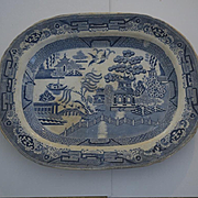 Willow English Staffordshire stoneware large platter