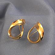 18k gold hoop earrings by Michael Good