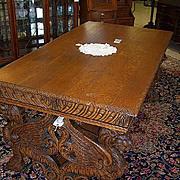 Oak Winged Griffin Partners Desk