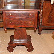Mahogany Empire Period Stand,Two Drawer, 1830