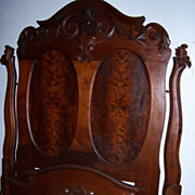 Walnut Victorian Lincoln Style Bed