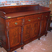 Mahogany Sideboard Federal Empire Sheraton Period  1830