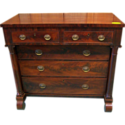 Mahogany Chest, Federal Period, 2 Drawers over 3 Drawers, 1840