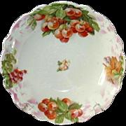 Porcelain Fruit Bowl, Handpainted Cherries, GS Bavaria