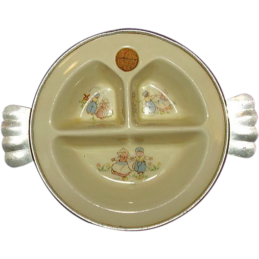 Excello Baby Warming Dish Dutch Children Design ~ Adorable!