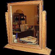 Oak Shaving Tilting Vanity Mirror