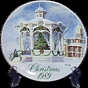 Smucker's Christmas Plate 1989 David Coolidge Artwork