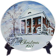 Smucker's Christmas Plate 1988 David Coolidge Artwork