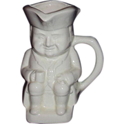 Toby Pitcher or Mug ~ Seated Colonial Gent with Stein and Pipe