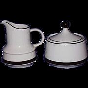 Stoneware Creamer and Sugar Set ~ Japan ~ 1960-70's
