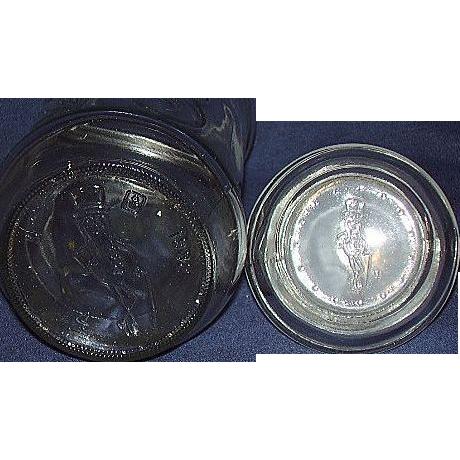 Mr. Peanut Glass Jar by Planters Peanuts 1982
