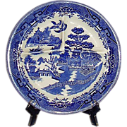 Blue Willow Restaurant Ware Grille Plate IDEAL Ironstone USA