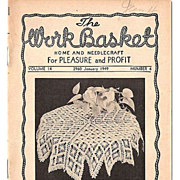 """""""The Work Basket"""" Grouping of 7 Home and Needlecraft Booklets 1948-1951"""