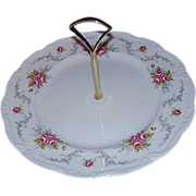 "Royal Albert Bone China ""Tranquility"" Tidbit Plate, Center Handle"
