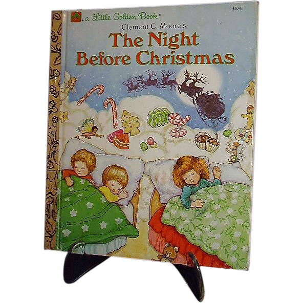 The Night Before Christmas 1987 Little Golden Book