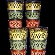 1960s Swanky Swig Beverage Glasses Set of 4