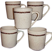 Sterling Western Restaurant Ware Coffee Mugs Barbed Wire