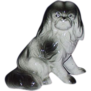 Pekingese Dog Porcelain Figurine JAPAN