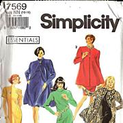 Simplicity #7569 Slim Dress and Knee-Length Coat ~Easy Essentials Size NN (10-16) ~UNCUT 1991