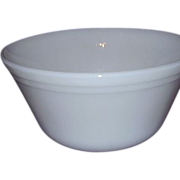 Federal Glass Milk Glass Mixing Bowl Medium