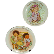Two AVON Mother's Day Plates ~1981 &1984 ~ Sweet Children