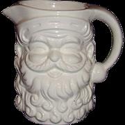 Santa White Ceramic Pitcher Made in Japan ~ 5 Inches