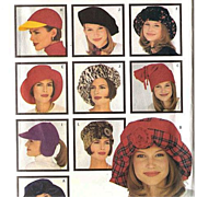 1993 Butterick Fashion Hats Pattern 3055 ~ 9 Different Fabulous Styles ~ S-M-L