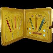 Boye Needle Master Knitting Kit with Embossed Plastic Case 1950-60s