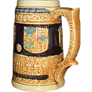 Vintage Beer Stein Coat of Arms Enesco Japan