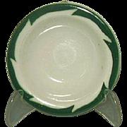 Wellsville China Restaurant Ware Green Crest Rim Fruit Dessert Sauce Bowl