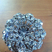 Vintage luxuriant ROGER JEAN PIERRE dimensional brooch/clip
