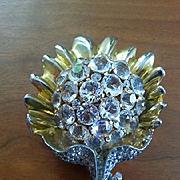 Unsigned but attributable REJA Flower brooch
