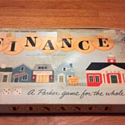 Vintage 1958 Finance board or table game. Parker Brothers business trading game for the whole family.