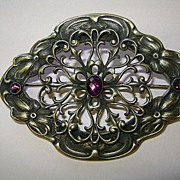VINTAGE Amethyst Brooch Beautiful