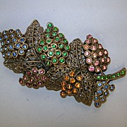 VINTAGE Little Nemo Colorful Grape Brooch Lovely
