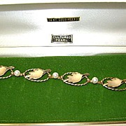 VINTAGE New but Old beautiful  14K Gold-Filled Bracelet