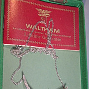 VINTAGE 50'S Waltham Wind Decoration Watch Necklace