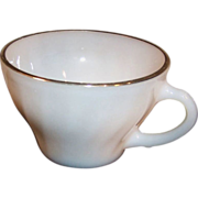 Anchor Hocking Fire King Golden Shell Coffee Cup