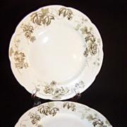 "SET of 2:  Alfred Meakin of England Antique 6 7/8"" Dessert Plates ~ Dresden Hopfen Pattern"