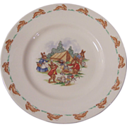 "Royal Doulton Bunnykins 8"" Child's Plate, Camp Site"