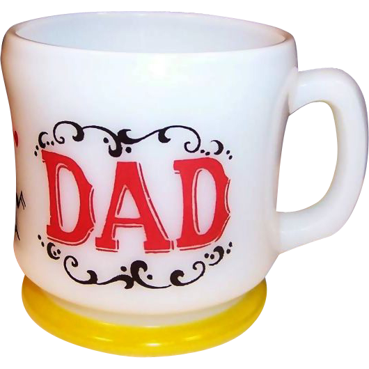 Hazel Atlas Gay 90's DAD Coffee Mug