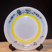 """Hazel Atlas Gay 90's Dessert  /  Breakfast 7"""" Plate"""