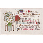 Antique Easter Poem Postcard