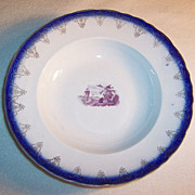 (Set of 2) Flo Blue Soup Bowls 9 1/4""