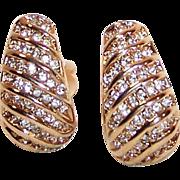 Vintage Rhinestone Swirl Earrings