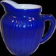 Hazel Atlas Gay Rainbow Blue Milk Pitcher