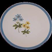 Homer Laughlin Harmony BLUE DUCHESS Bread Plate