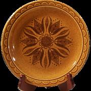 "Vintage Homer Laughlin Granada Pottery Golden Harvest 10 1/4"" Round Dinner Plate"